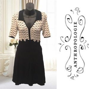 Knitted & Knotted Black and White Dress
